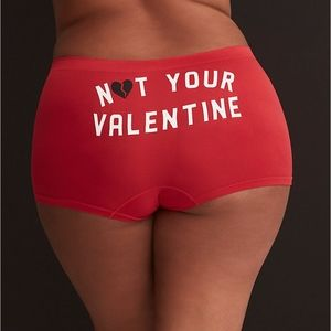 NEW Not Your Valentine Seamless Boyshort Panty 2